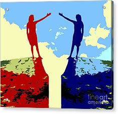 The Hand Of Friendship Acrylic Print by Patrick J Murphy