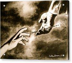The Hand Of God Acrylic Print by Carla Carson