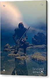 The Hand Of God On Your Head Acrylic Print by Sipo Liimatainen