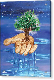 The Hand Of The Lord Acrylic Print by Gary Rowell