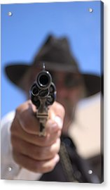Acrylic Print featuring the photograph The Handgun by Bob Pardue