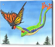 The Hang Glider Acrylic Print by Catherine G McElroy