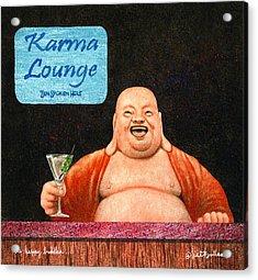 The Happy Buddha... Acrylic Print by Will Bullas