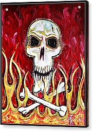 The Happy Skull Acrylic Print by Kip Krause