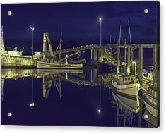 The Harbor At 1030pm Acrylic Print by Timothy Latta