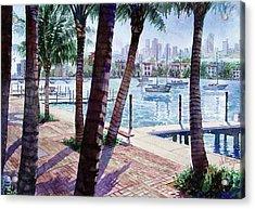 The Harbor Palms Acrylic Print