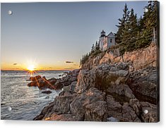 The Harbor Sunset Acrylic Print by Jon Glaser