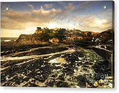 The Harbour At Lee  Acrylic Print by Rob Hawkins