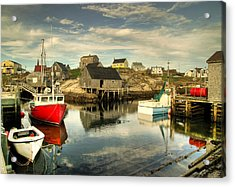 The Harbour At Peggys Cove Acrylic Print