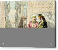The Harem, Plate 1 From Illustrations Acrylic Print by John Frederick Lewis