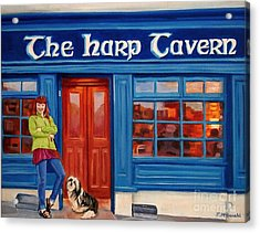 The Harp Tavern Acrylic Print by Janet McDonald