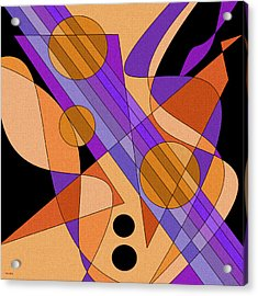 Electric Harp Acrylic Print by Val Arie
