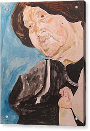 The Hassidic Grandmother Acrylic Print by Esther Newman-Cohen