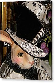 The Hat Acrylic Print by Jean Goodwin Brooks
