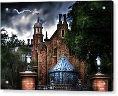 The Haunted Mansion Acrylic Print by Mark Andrew Thomas