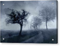 The Haunted Road Acrylic Print by Steve K