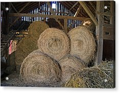 The Hay Barn Acrylic Print by Steph Maxson