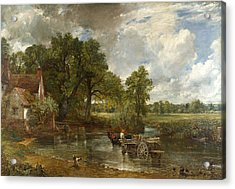 Acrylic Print featuring the painting The Hay Wain by John Constable