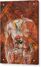 The Heart Finds Peace Through Love Acrylic Print