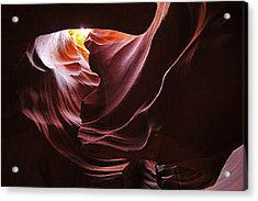 Acrylic Print featuring the photograph The Heart Of Antelope Canyon by Dan Myers