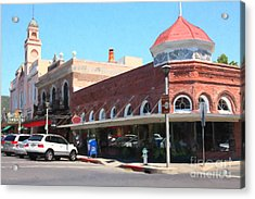 The Heart Of Sonoma California 5d24484  Acrylic Print by Wingsdomain Art and Photography