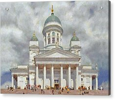 The Helsinki Cathedral Acrylic Print by Digital Photographic Arts