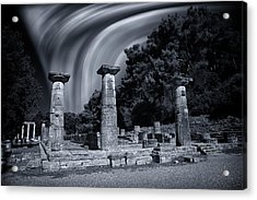 Acrylic Print featuring the photograph The Heraion Of Ancient Olympia by Micah Goff