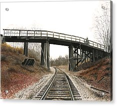 Acrylic Print featuring the painting The High Bridge by Ferrel Cordle