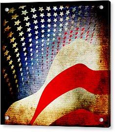 The High Flying Flag Acrylic Print by Angelina Vick