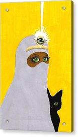 The High Priestess Acrylic Print by Lise Slinky