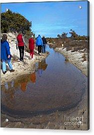 The Hiking Line Acrylic Print by Robert Pilkington