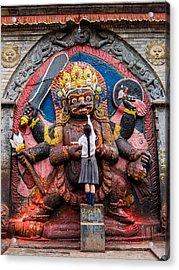 The Hindu God Shiva Acrylic Print by Nila Newsom