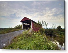 Acrylic Print featuring the photograph The Historic Hayes Covered Bridge by Gene Walls