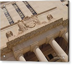 Acrylic Print featuring the photograph The Historical Federal Reserve Bank Of Dallas by Robert ONeil