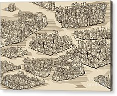 The History We Never Had. Map Acrylic Print