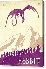 The Hobbit - Lord Of The Rings Poster. Watercolor Poster. Handmade Poster. Acrylic Print by Watercolor Girl