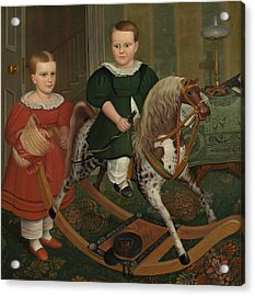 The Hobby Horse Acrylic Print by American School