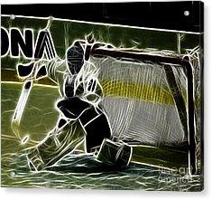 The Hockey Goalie Acrylic Print by Bob Christopher