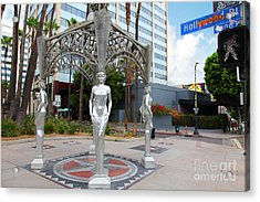 The Hollywood Boulevard Gazebo La Brea Gateway To Hollywood 5d28926 Acrylic Print