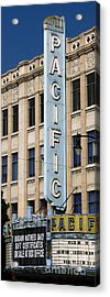 The Hollywood Pacific Theatre Acrylic Print by Gregory Dyer