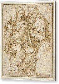 The Holy Family Baldassare Peruzzi, Italian Acrylic Print