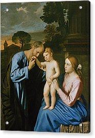 The Holy Family Acrylic Print by Il Sassoferrato
