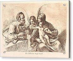 The Holy Family, The Christ Child Acrylic Print by Francesco Bartolozzi