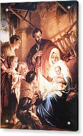 The Holy Family Acrylic Print by Unknown