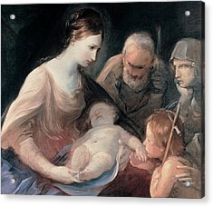 The Holy Family With St Elizabeth And St John The Baptist Acrylic Print by Guido Reni