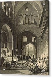The Holy Sepulchre 1886 Engraving Acrylic Print by Antique Engravings