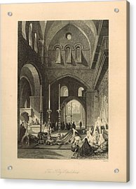 The Holy Sepulchre 1886 Engraving With Border Acrylic Print by Antique Engravings