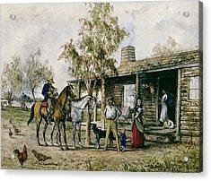 The Homesick Pioneer Woman Acrylic Print by J Comins