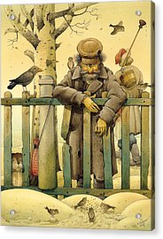 The Honest Thief 02 Illustration For Book By Dostoevsky Acrylic Print by Kestutis Kasparavicius