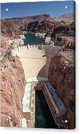 The Hoover Dam And Lake Mead Acrylic Print by Ashley Cooper